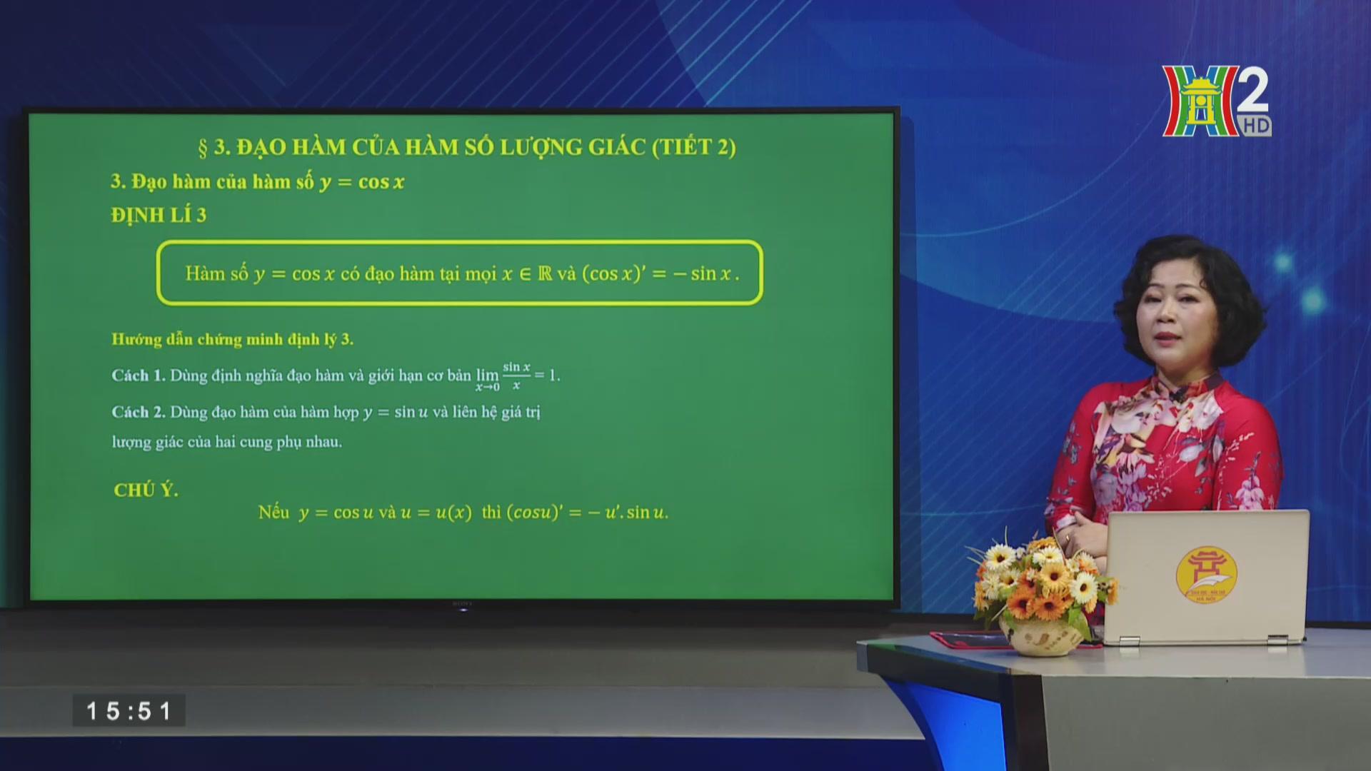 Bài 3: Đạo hàm của hàm số lượng giác (Tiết 2)