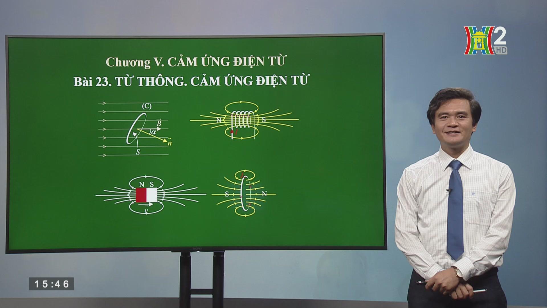 Vật lý lớp 11: Bài 23 Từ thông, cảm ứng điện từ